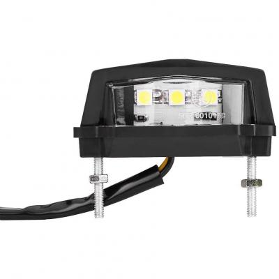 Qiilu Universale 12V LED Lampada Posteriore della Lampada Posteriore della Luce del Piatto